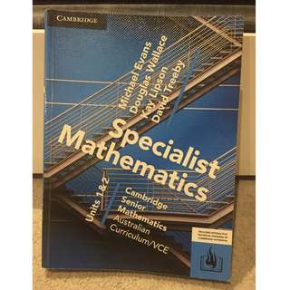 CSM VCE Specialist mathematics Units 1 & 2 [Cambridge]`
