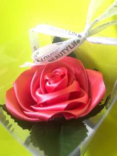 全新手作-絲帶玫瑰花