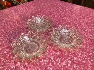 Vintage clear star bowl and plate set