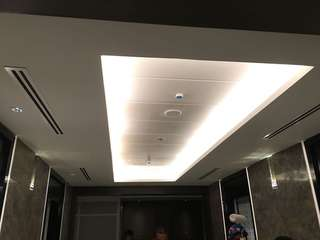 Plaster ceiling with cove light