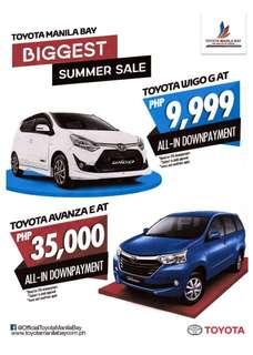 Toyota LOW DOWN promos