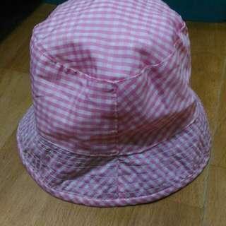 🚚 小孩粉紅色那紗布透氣帽子