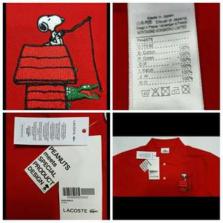 Limited Lacoste x Peanuts x Snoopy Mens