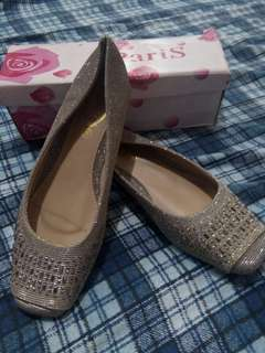 👠Silver flat shoes💕