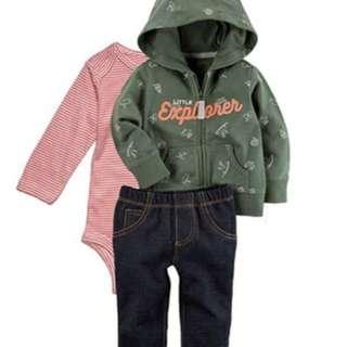 Jaket carter 3in1 bayi perempuan murah lucu branded