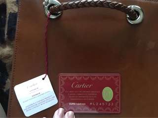 Authentic cartier panthere backpack with card