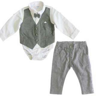 Candy World 2pc Longsleeves Set with Pants - Gray