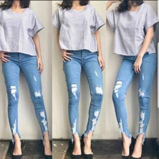 Sienna Rip Jeans Size 30