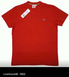Lacoste V-neck Honeycomb Fabric Live mens