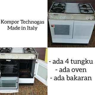 Kompor Technogas Made in Italy asli