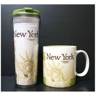 【端午節前任2件物品折扣200】絕版 STARBUCKS 星巴克 美國紐約 NEW YORK 城市杯 馬克杯 隨行杯