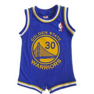 Basketball Romper - Golden State Warriors Steph Curry (Blue)