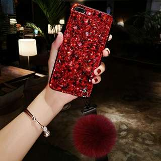 Neo 7 Red Rhinestone Case