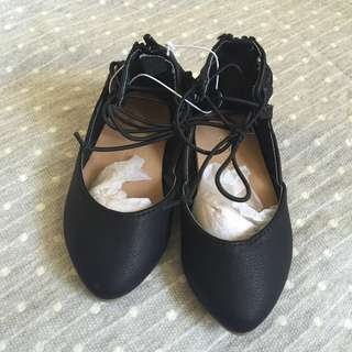 Old navy laced up ballet
