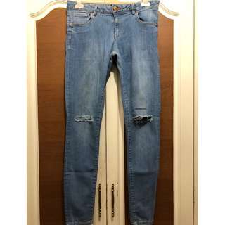 Warehouse Ripped Knee Jeans