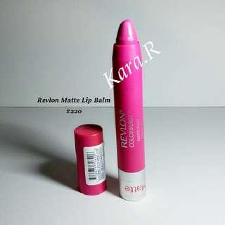 Used Revlon Matte Lip Balm #220 Pink Colour Lipstick Lips Stick