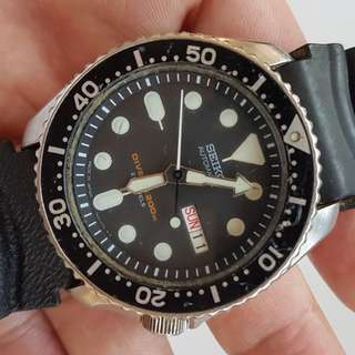 Rare Seiko Diver, Old Seiko, Retro Seiko, Vintage Seiko, Men SEIKO Scuba Submariner Diver's 200 Metres Automatic Watch, Calibre 7S26, Seiko Time Corp, Seiko Watch Company, JAPAN, For Collector
