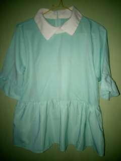 Baju atasan hijau 1