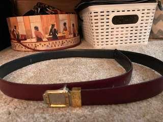 Authentic Christian Dior vintage Leather belt
