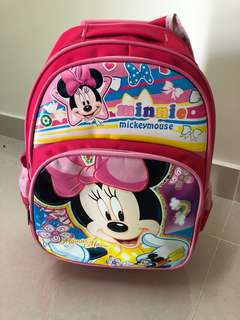 Minnie Mouse School Bag with wheels