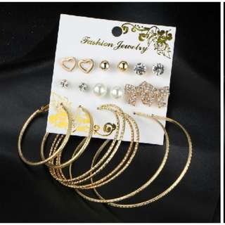 9 Pairs of Earrings Set Party Jewelry (last 2 sets)