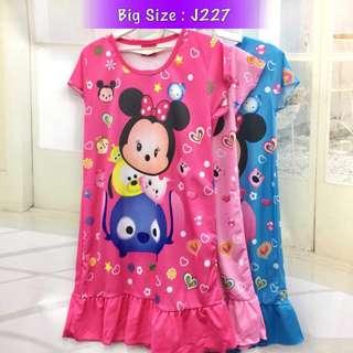 Buy 3 @ RM33 ❤Bargain Sale❤ Tsum Tsum Jersey Dress J227
