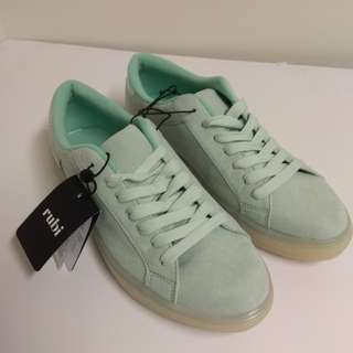[Brand New]  Teal/ Pastel Green Sneakers