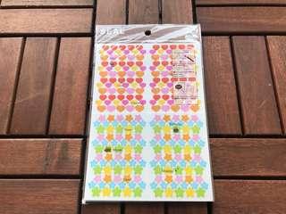 Mini Hearts Organiser Stickers