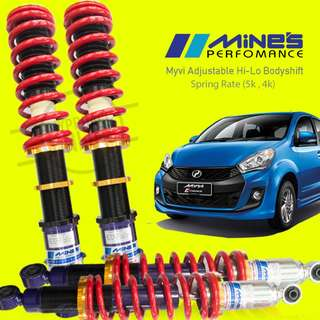 Myvi Mines Adjustable hi lo bodyshift