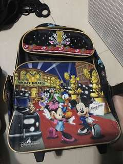 Mickey Mouse bag good as new from Hongkong with roller