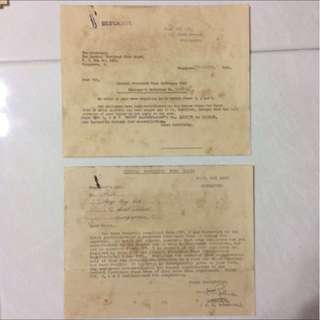 Vintage Old Document - Singapore 1955 Central Provident Fund Ordinance (rare) (set of 2 document