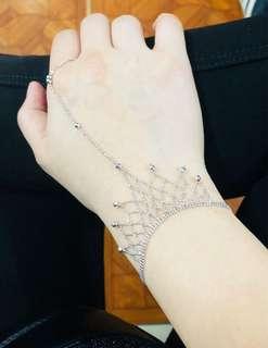 white gold bracelet ring