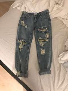 One Teaspoon awesome baggies boyfriend jeans size 26