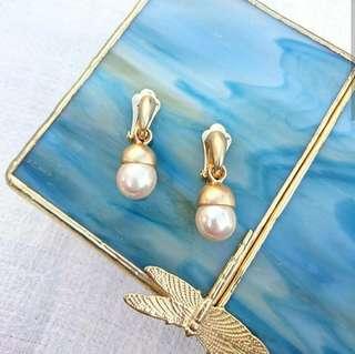 1930s-1950s 婚禮配戴珍珠耳夾
