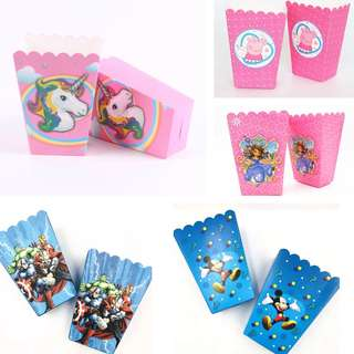 [NEW] 6pcs Party Popcorn Candy Goody Box