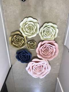 3D paper flowers clearance