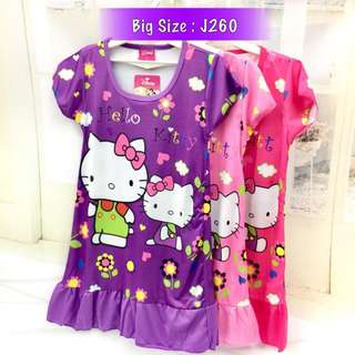 Buy 3 @ RM33 ❤Bargain Sale❤ Hello Kitty Jersey Dress J260~ Small Version