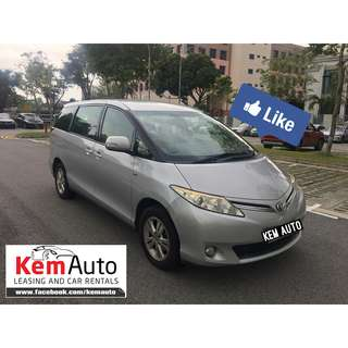 Luxury MPV TOYOTA PREVIA 7 SEATER Estima 2.4A for cheap rental