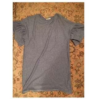 Zara striped loose fitting tshirt dress