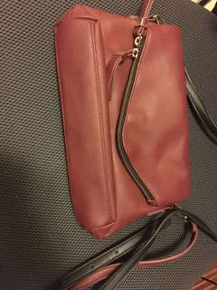 Accessorize dark red cross body bag