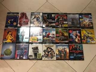 4K UHD Blu Rays