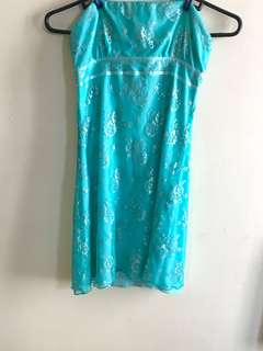Charlotte Russe blue tube lace dress