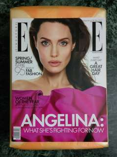 (Preloved) Angelina Jolie Elle Magazine (Singapore)
