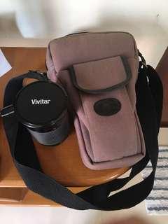 Lens Zoom Vivitar and Camera bag