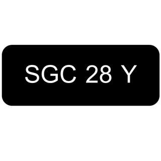 Number Plate for Sale: SGC 28 Y
