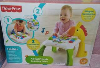 Animal friends learning table