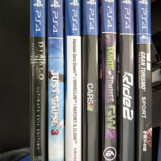 PS4 Games Selling Cheap Just Cause 3 Project Cars Plants Vs Zombies Garden Warfare GW Ride 2 Gran Turismo Sport GT