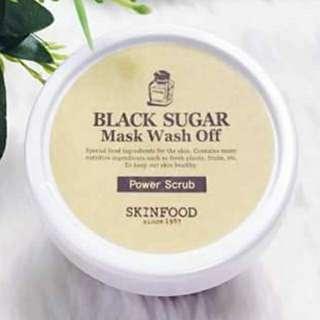 Skinfood Black Sugar Mask Wash Off Power Scrub 100g.