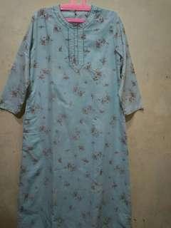 Baju panjang floral bunga
