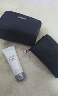Giorgio Armani Bag with Mini Perfume + After Shave Balm